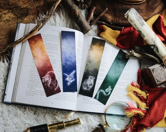 HOGWARTS HOUSES | PATRONUS | Limited edition | Harry Potter inspired printed bookmarks