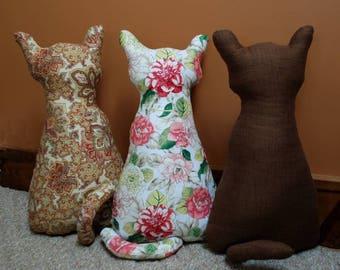 PDF sewing Pattern, STUFFED CAT sewing pattern, door stop, cat pattern