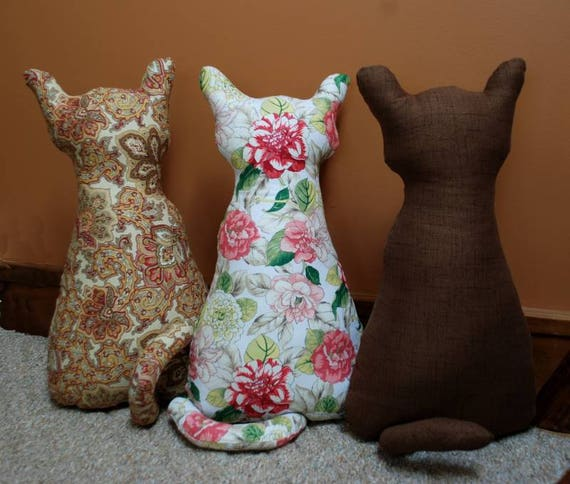 & PDF sewing Pattern STUFFED CAT sewing pattern door stop cat