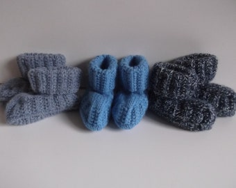 Knitted toddler slipper boots
