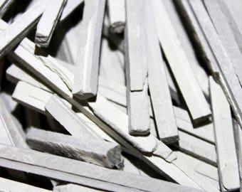 Earthy Goodies slate chalk pencils (thick). Crunchy, earthy & thick edible white limestone slate chalk pencils