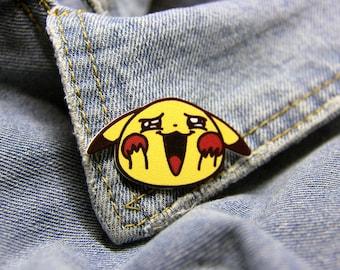 Pikachu - Pokemon Plastic Pin|Shrinky Dinks Pin|Shrink Plastic Pin|Brooch Lapel Pin|Badge