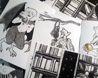 Book of Illustrations / Art Zine / Art Booklet / Sketchbook / Picture book / Fantasy Creatures / Inktober / Art Gift