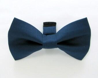 Navy Dog Bow Tie /Wedding Dog Bow/Navy dog bowtie