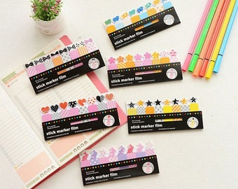 Adorable Kawaii Clear Page Flag Tabs - Planner Agenda Stickies