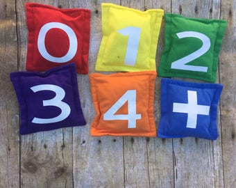 Weighted Bean Bags/Sensory/ADHD/Autism/Games/Tossing/Sensory Input/Tactile/Numbers/Shapes/Toddler/Preschool/Counting/Colors/Feel