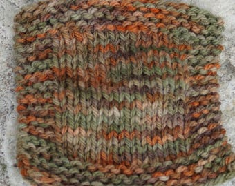 worsted weight yarn: Autumn Colors 3 ply worsted weight hand dyed soft wool yarn from our farm.