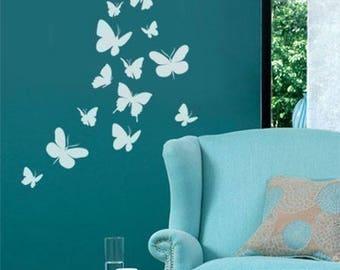 Butterflies Wall Decal, Butterflies Wall Sticker for Nursery Baby Room Decor, Butterflies Wall Decal for Nursery Decor, Girls Wall Decal