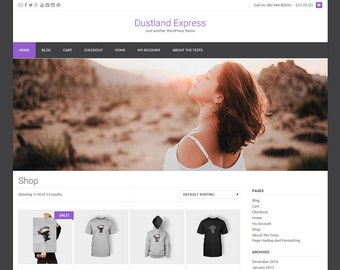 Budget Wordpress theme 'Dustland', Change your website with this nice theme, easy to use, easy to change, full responsive.