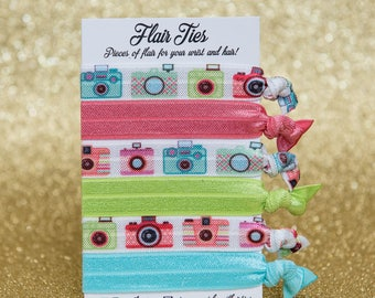 Camera Photographer Photography Hair Ties Hair Elastics
