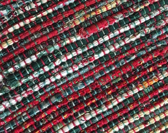 """Hand Woven Patchwork Christmas Long Table Runner - 14"""" x 58"""""""