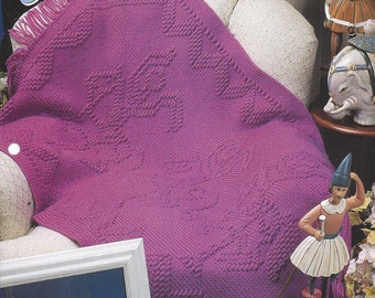 Carousel Horses Afghan Pattern  - Annie's Crochet Quilt & Afghan - Crochet Quilt, Blanket, Bedspread, Home Decor, Bedding, Couch Throw
