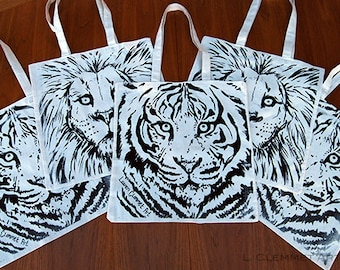 Tote Bags - Lion/Tiger
