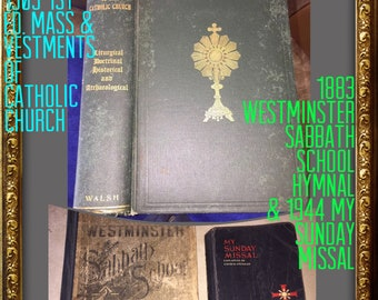 The Mass & Vestment of The Catholic Church, 1909 1st Ed. John Walsh