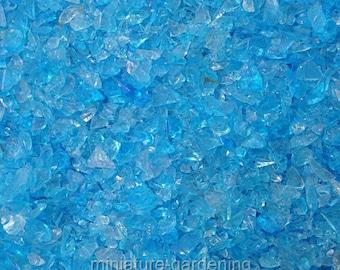 Beach Glass Pebbles, Color Options: Ocean for Miniature Garden, Fairy Garden