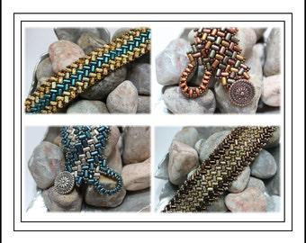 Tutorial ~ Rulla Herringbone Bracelet by Reggie's Creations ~ Beaded Bracelet Pattern