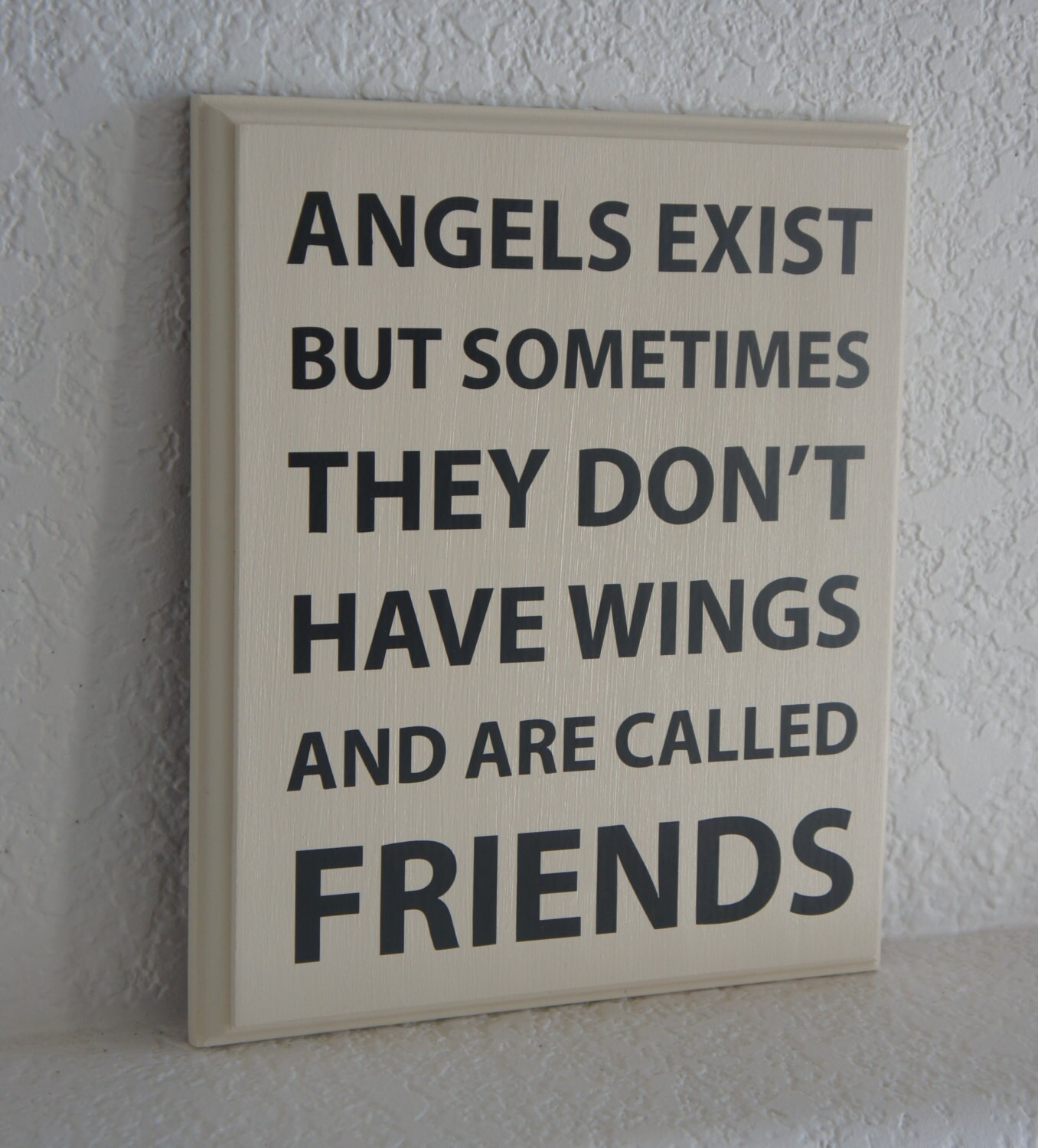 Love Plaques Quotes Friend Plaque Sign Angels Exist But Sometimes They Don't