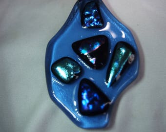 This is a lovely Blue Glass Pendent