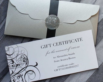 GIFT CERTIFICATE - Add Design's the Limit Gift Certificate Listing to Any Purchase in Our Shop for Gift Exchanges (Redeemable E-Certificate)