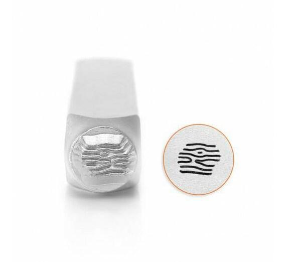 Wood Texture Metal Design Stamp Impressart Metal Jewelry Punch for