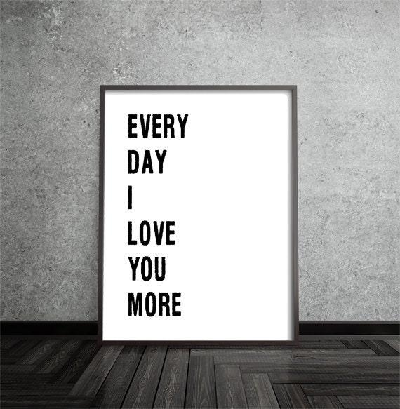 jeden Tag liebe ich dich mehr