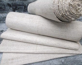 Grain Sack Fabric Antique ROLL Upholstering fabric Runner Vintage linen roll hemp linen roll wedding decor