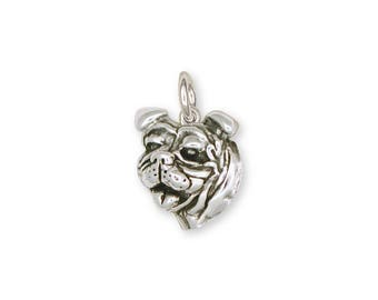 Boston Terrier Charm Jewelry Sterling Silver Handmade Dog Charm CH3-C