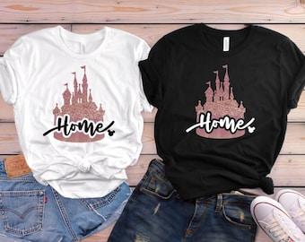 Rose Gold Disney Castle Shirt | Disney Shirt | Disney Shirts for Women | Disney Home Shirt | Disney Women Shirts | Magic Kingdom Shirt