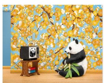 35% OFF SALE Panda animal art print: Animal Planet