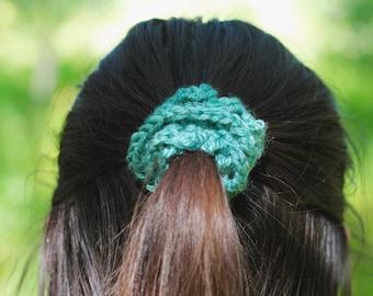 Scrunchie, Hair Scrunchie, Hair Elastic, Hair Tie, Hair Accessory, Crochet Hair Scrunchie, Crochet Hair Tie, Scrunchies, 90s