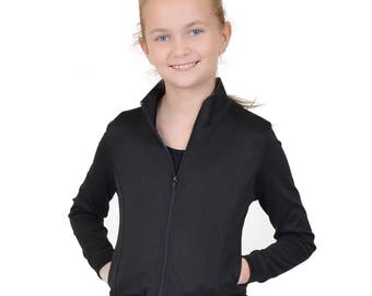 Girl's Cotton Warmup Jacket