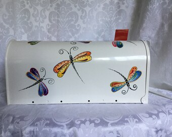 Dragonfly Hand Painted Mailbox