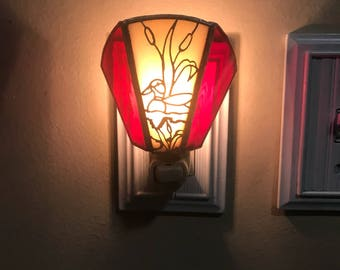 Custom made stained glass nightlight