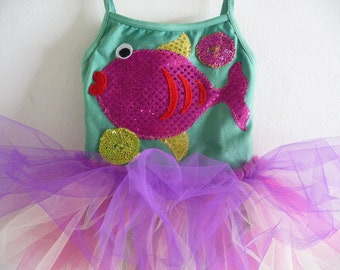 FISH DRESS -Fish Tutu -Fish Leotard  - Under the Sea Birthday Dress - Under the Sea Party