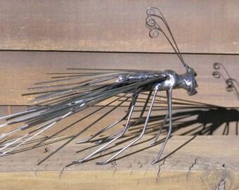 Wasp Metal Sculpture Yard Art Garden Art Found Objects