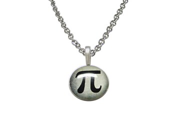 Mathematical Pi Symbol Pendant Necklace