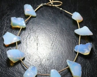 80% OFF SALE Amazing Opalite Rough Beads 10 Pieces