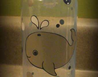 Whale themed baby, Whale baby bottle, Whale nursery, Baby boy bottle, Personalized baby bottle