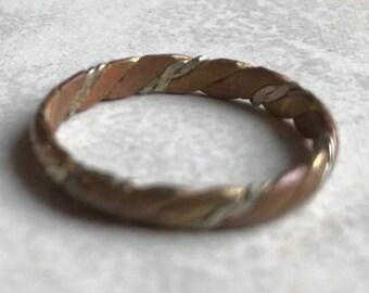 Mixed Metal Band Ring-Size 7 1/2