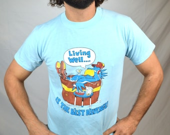 Vintage 1984 Blue Bird Tshirt Tee Shirt