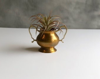 Small Brass Loving Cup, Creamer Cup, Brass Vase