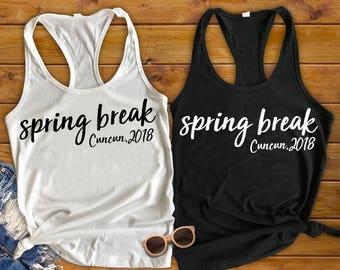 spring break tank - spring break shirts - spring break 2018 - getaway shirts - vacation shirts - girls vacation shirts - college shirt