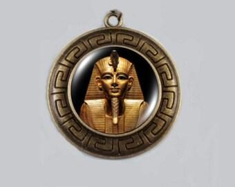 King Tut Necklace, Egyptian Jewelry, King Tut, King Tut Pharaoh Pendant, Egyptian King Tut Necklace, Tutankhamon.