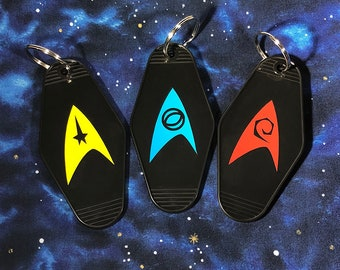 Star Trek Insignia - Command, Science, Engineering - Key Tag