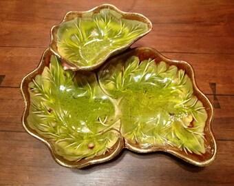 California Originals Pottery Ceramic Chip and Dip Dish