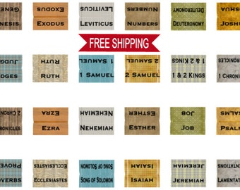 Bible Tabs for The Guys,  Laminated Bible Tabs, Books of The Bible Tabs, Journaling Bible