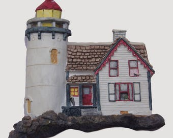 Lighthouse Decor, Lighthouse Wall Plaque, Brian Baker Deja Vu Houses,  Lighthouse No 1535