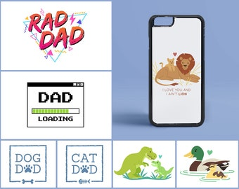 Father/Dad Inspired Design iPhone ( 8 / 7+ / 7 / 6+ / 6S / 6 ) Case