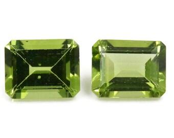 Peridot | Natural Peridot | Peridot Gemstone | Peridot Loose Gemstone | August Birthstone | Peridot faceted octagon  Pair  6.56ct  10x8mm