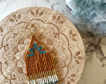 La Princesa Handwoven Beaded Fringe Earrings